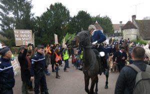 manifestation contre la chasse à courre (picardie)